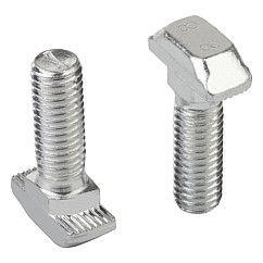 Vis à tête marteau : Les stries brisent la couche formée par l'anodisation et créent un raccord sûr et conducteur d'électricité // Hammer-head screws // REF 07094