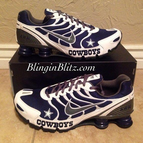 Dallas Cowboys WomenCowboys Unisex Dallas Cowboys Nike Turbo Shox by  BlinginBlitz on Etsy Dallas Cowboys Custom ... 84e93ef3f