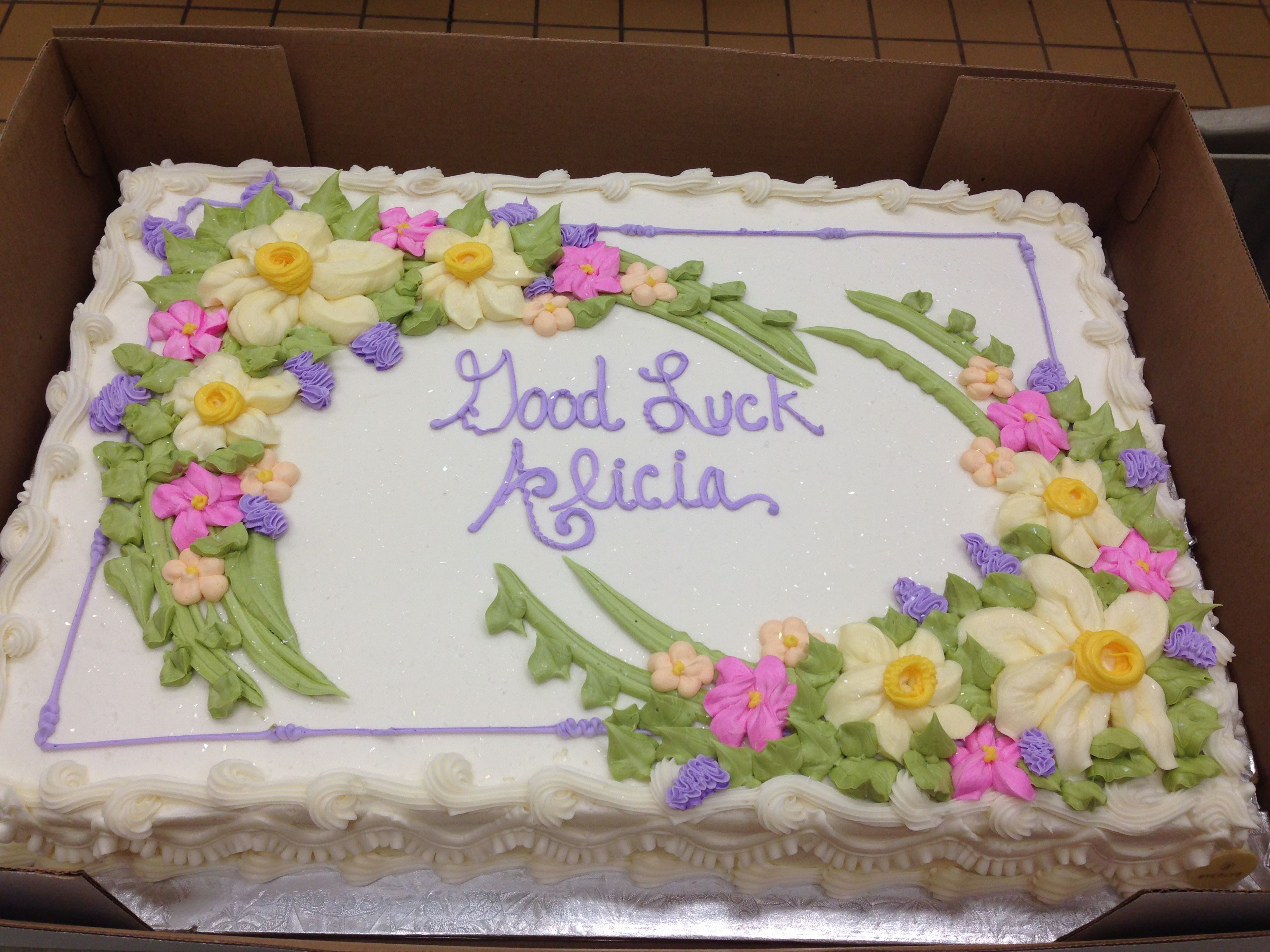 Sheet Cake Decorated With Flowers : Full Sheet- Spring Flowers Cakes - Sheetcakes & Layers ...