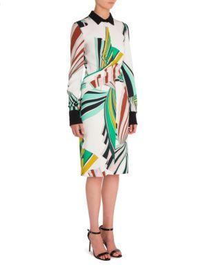 EMILIO PUCCI Cady Printed Dress. #emiliopucci #cloth #dress