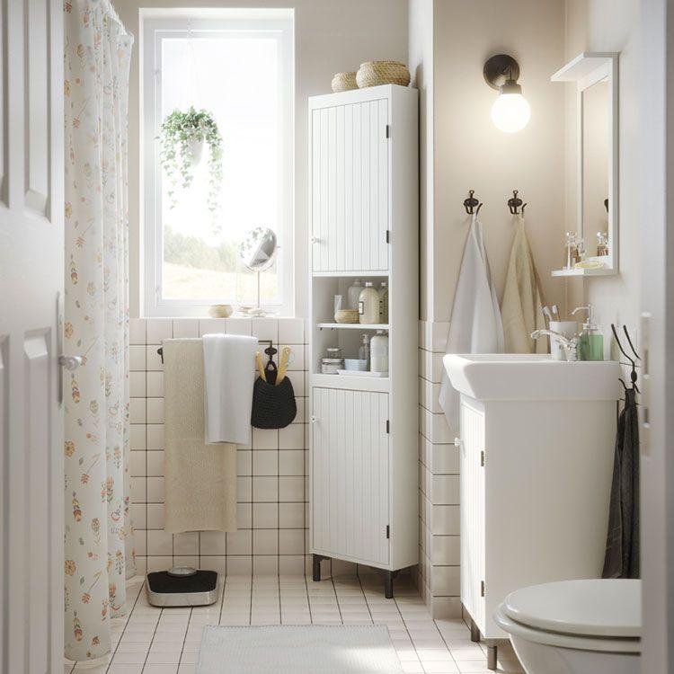 10 Idee Per Arredare Un Bagno Shabby Chic Ikea Amenager Petite