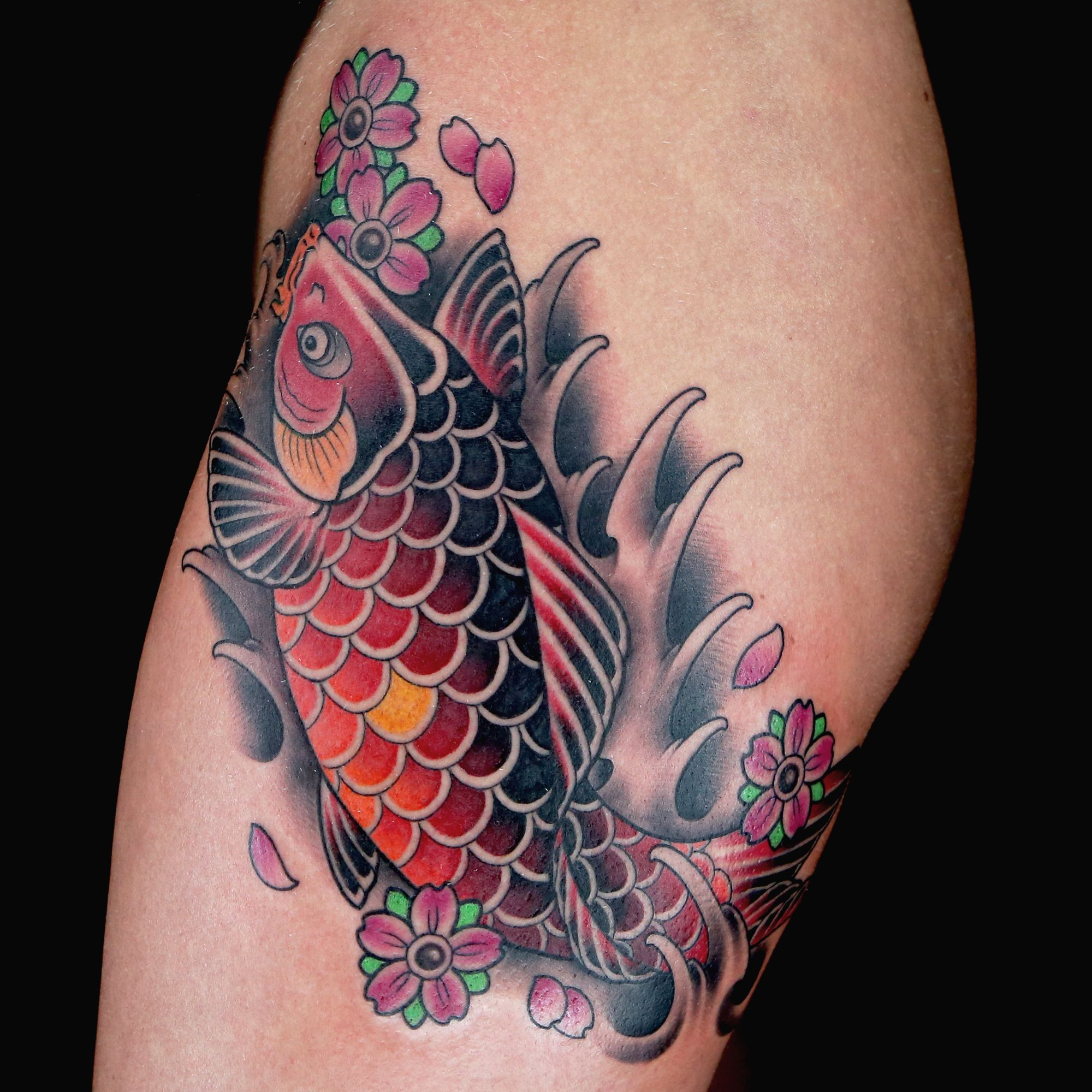 Check out this high res photo of tyler nolans tattoo from the koi check out this high res photo of tyler nolans tattoo from the koi fish episode of biocorpaavc