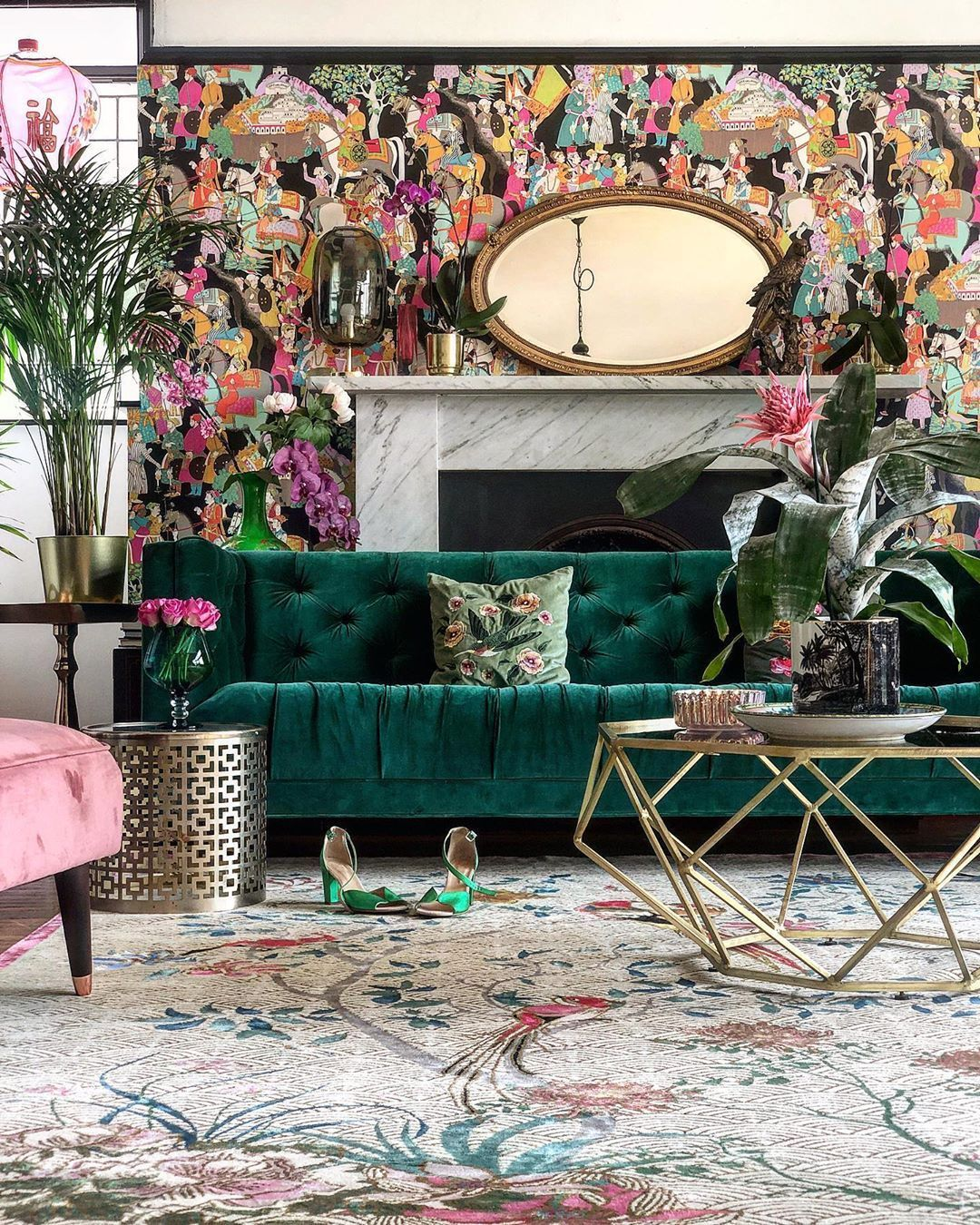 Inspiration For Floral Waves In 2020 Eclectic Living Room Colorful Eclectic Living Room House Paint Interior