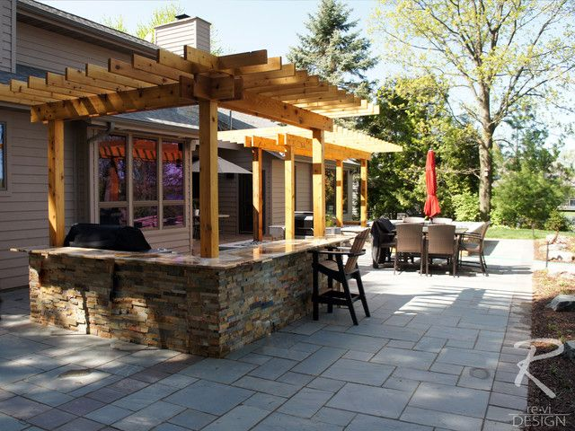Outdoor Kitchen & Backyard Patio  Traditional  Patio  Other Interesting Outdoor Kitchens And Patios Designs Review