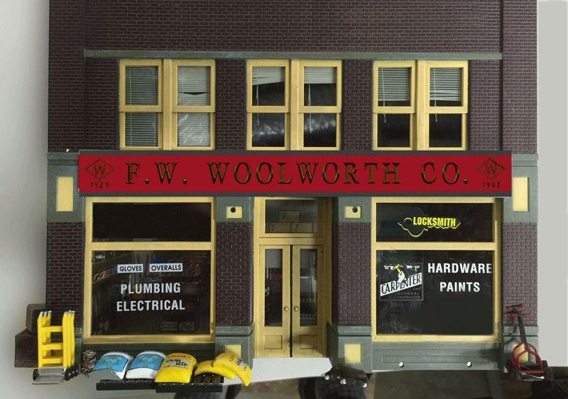 Animated Billboard Neon Sign  #88-2001 MILLER ENGINEERING O//HO Woolworth Co