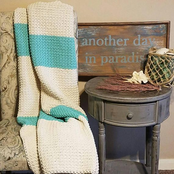 Beach Themed Throw Blanket Best Beach Decor Beach Blanket Crochet Blanket Crochet Throw Blanket Decorating Design