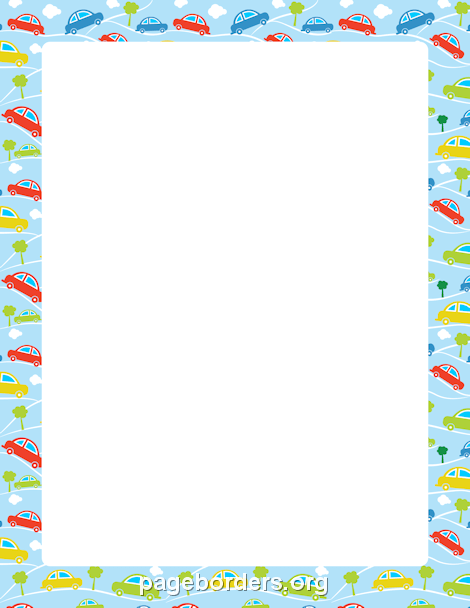 Car Border Page Borders Borders For Paper Clip Art Borders