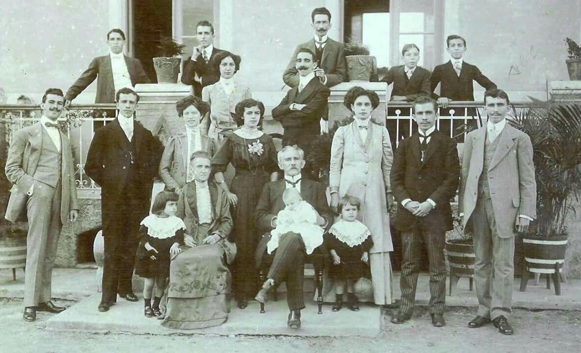 Década de 1910 - A família de José Arouche de Toledo. | Fotos antigas, História do brasil, Sao paulo antiga