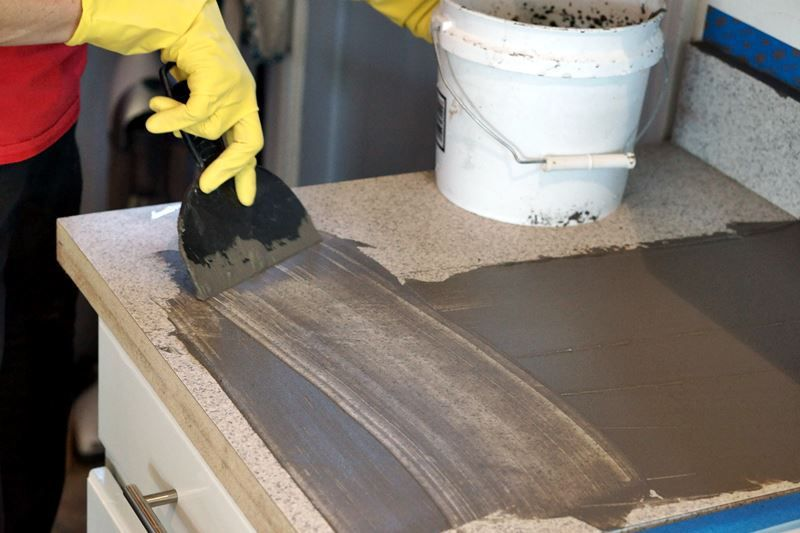 Applying Concrete To Countertops