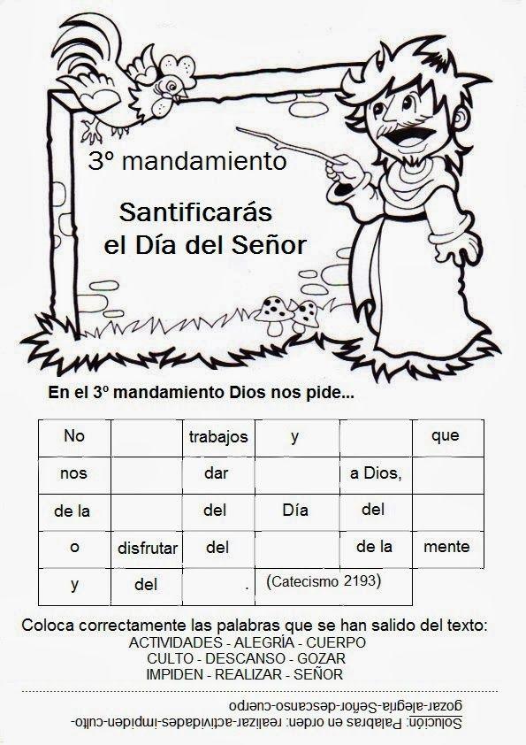 El Rincón de las Melli: JUEGOS con los 10 Mandamientos | Ejercicios ...