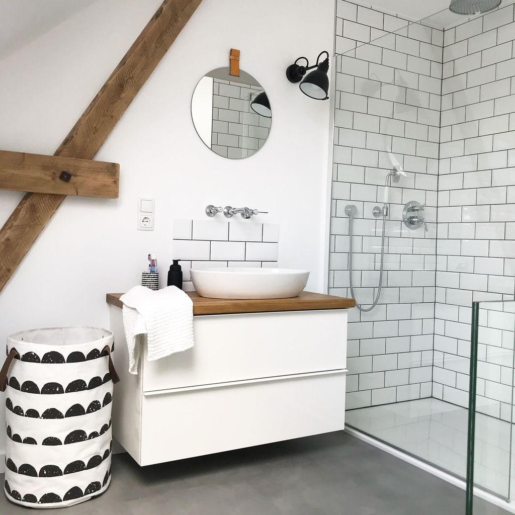 Endlich Ist Das Bad Fertig Badezimmer Schwarzu Badezimmer Badezimmer Holzboden Und Badezimmer Dachgeschoss
