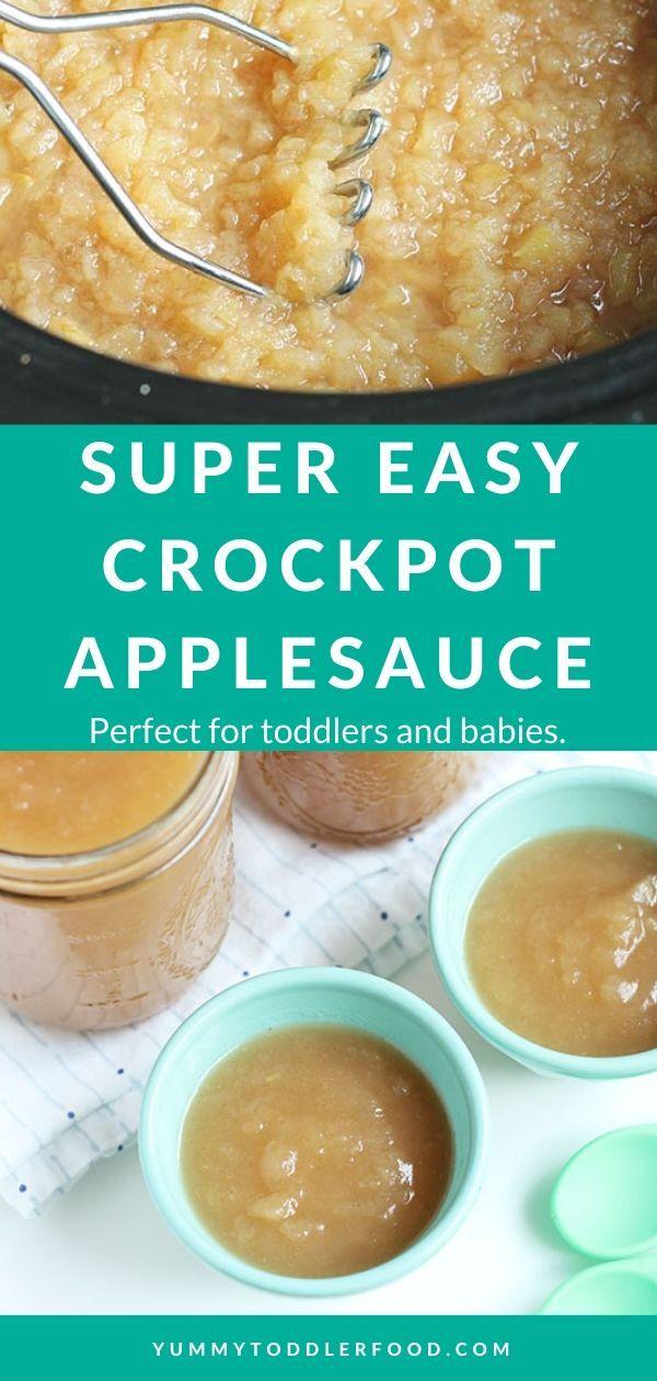 Super Easy Crockpot Applesauce (For Kids, Babies, and Parents!)