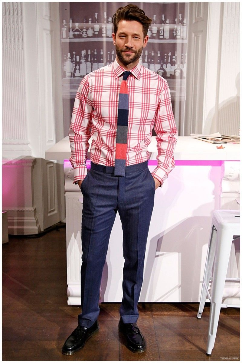 Thomas pink masters the modern shirt tie combo for fall winter 2015 menswear collection - Hackett london head office ...