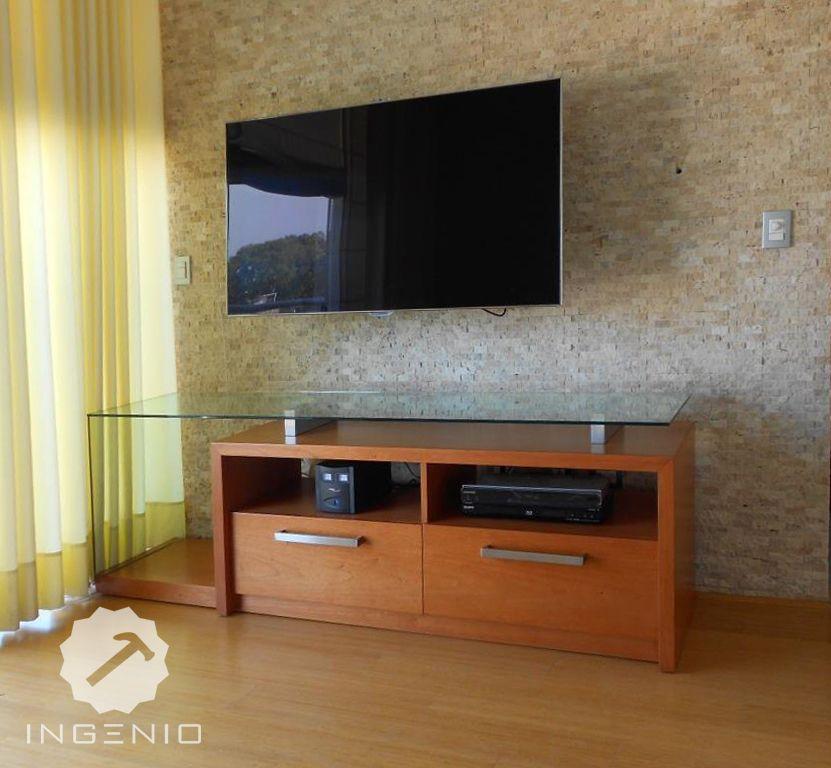 mueble equipos de tv y sonido aglomerado de enchapado en