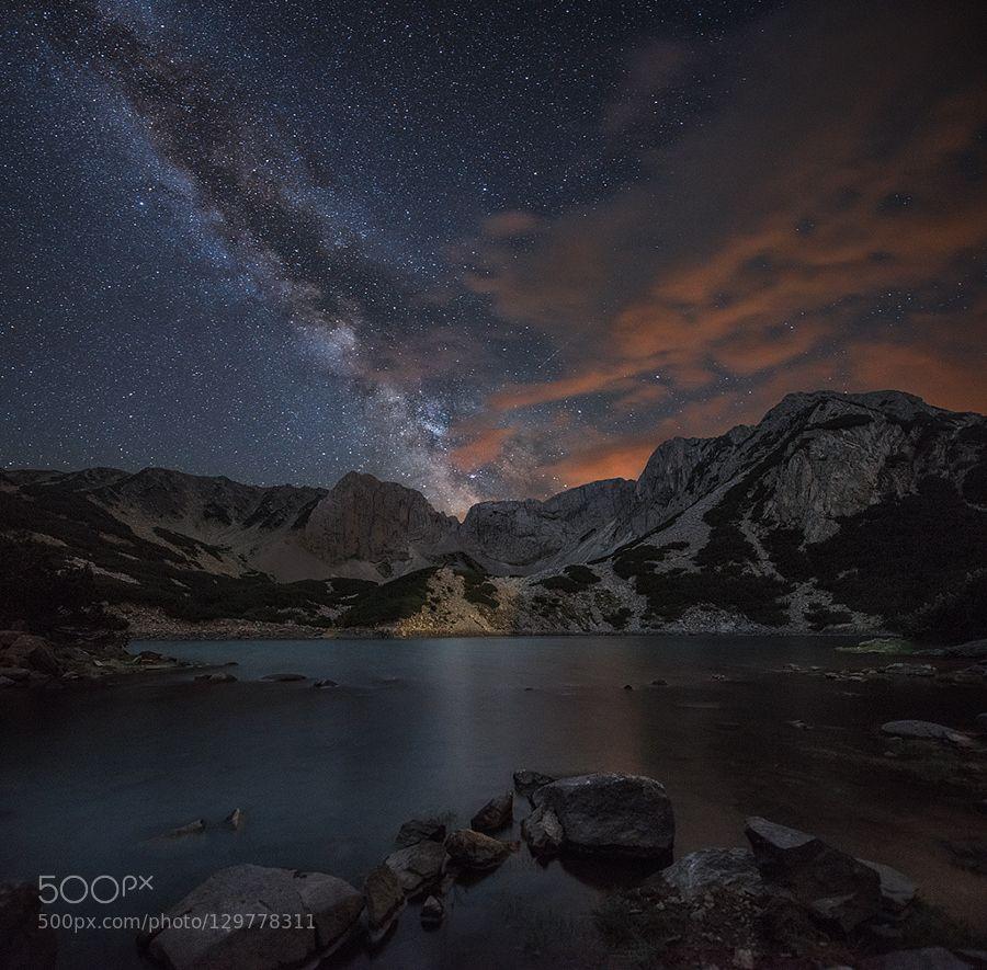 Night over mountain by KrasiMatarov