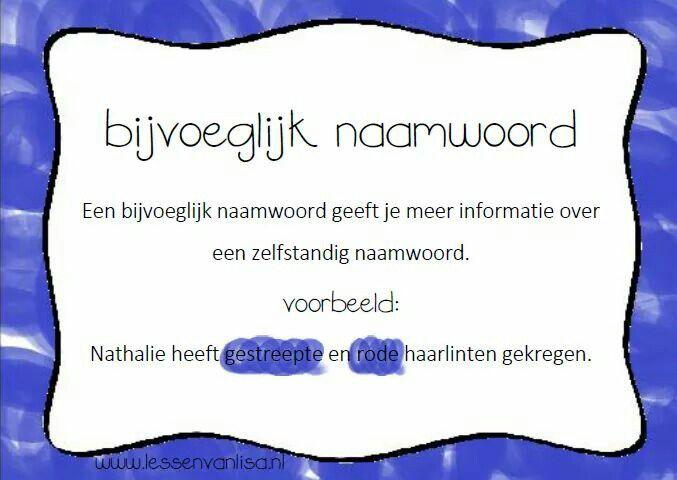 Bijvoeglijk Naamwoord Lesson Spelling School En Education