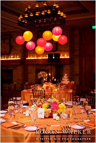 orange wedding colors yellow rose centerpiece – Chinese Lantern Chandelier