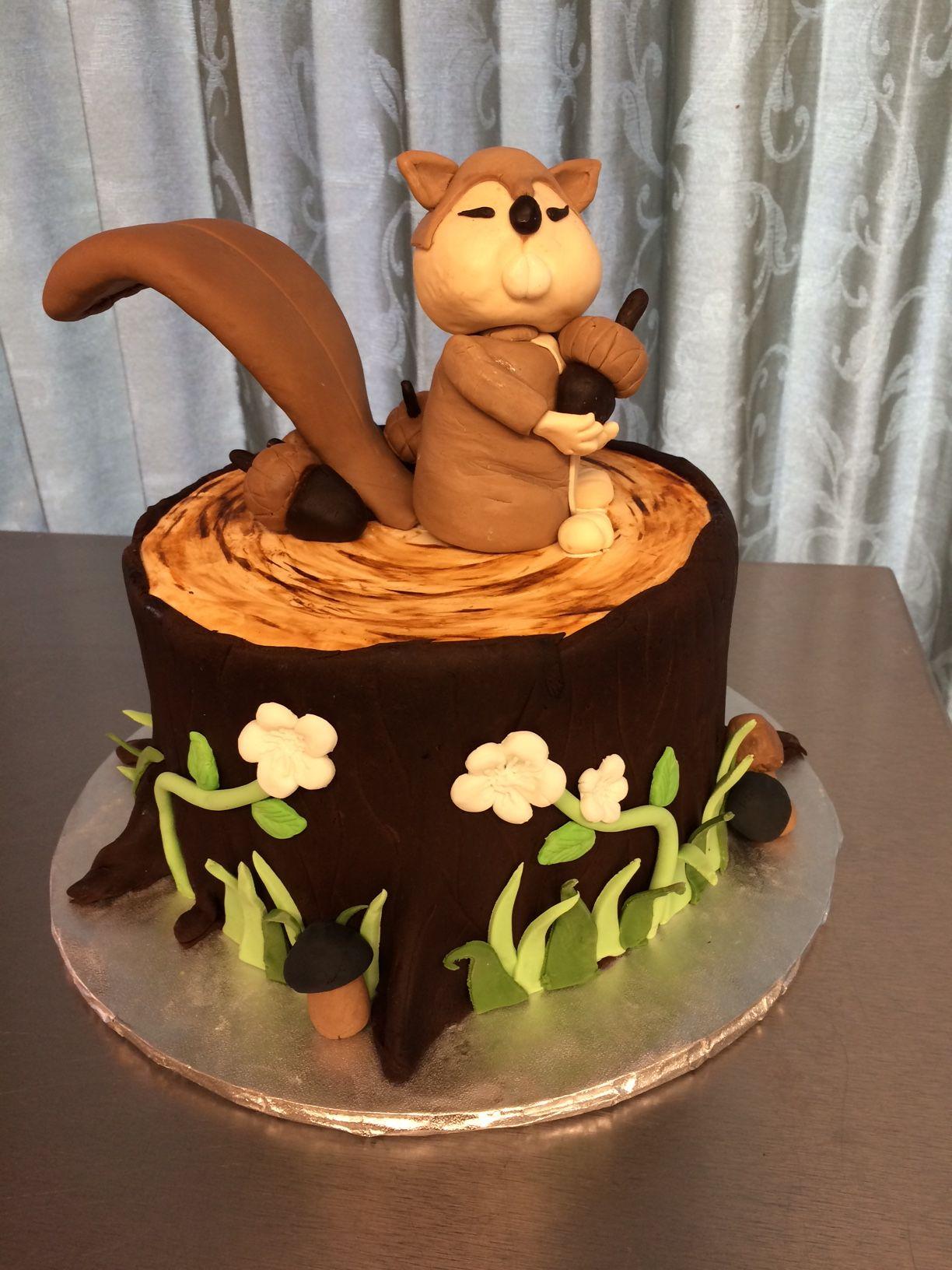 Enjoyable Squirrel Cake Squirrel Cake Kids Cake Cake Funny Birthday Cards Online Overcheapnameinfo