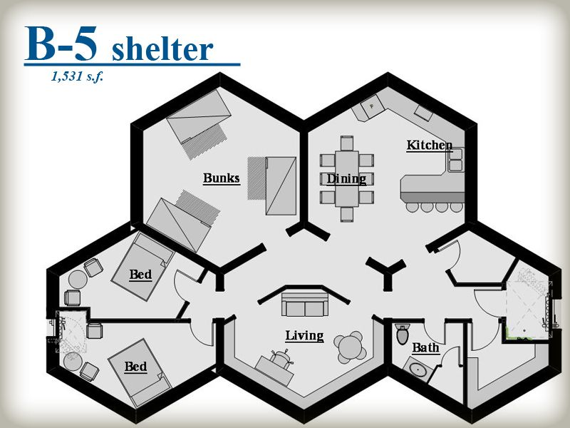 Beehive shelter systems honeycomb pod system survival for Honeycomb house floor plan