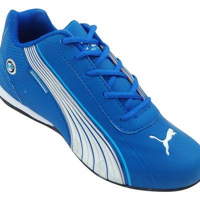 tenis puma azul e branco