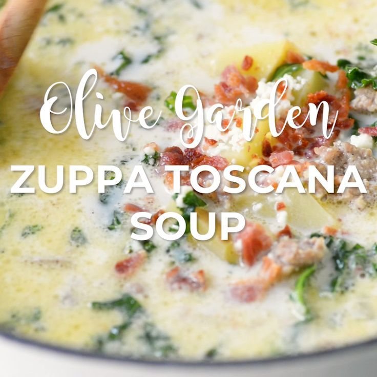 This Easy Olive Garden Zuppa Toscana Soup is a super quick and simple copycat recipe with rich, creamy flavor you can't resist! |lecremedelacrumb.com #soup #quickmeals #coldweatherfoods #olivegarden #warmmeals # familydinners