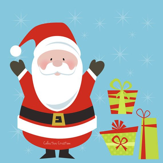 Weihnachtsgeschenke Clipart.Santa Time By Hadar Sharon On Etsy Treasuries Featuring Hadar
