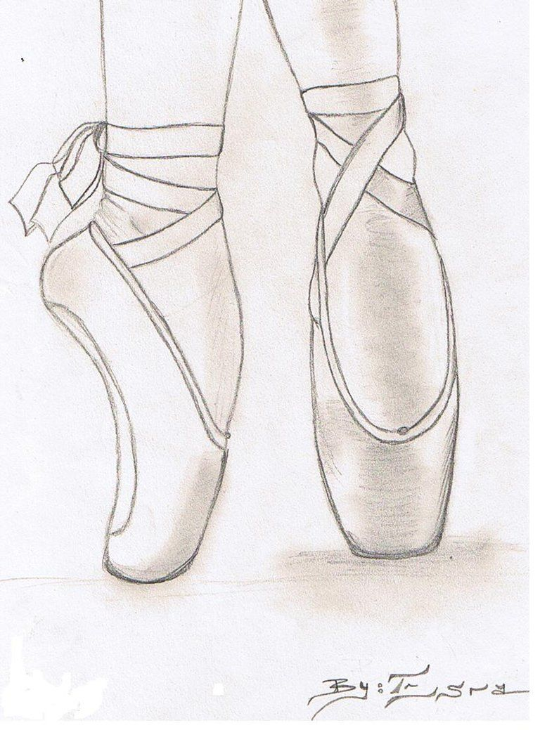 How to draw a ballerina shoe google search drawings 3 for Ballerina drawing step by step