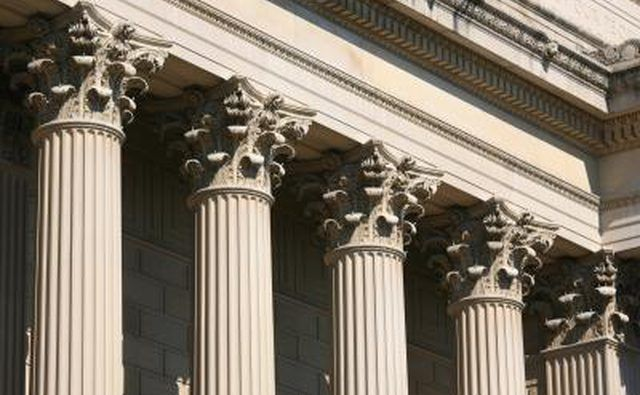 Roman Architecture Columns the capital of corinthian columns at the national archive in