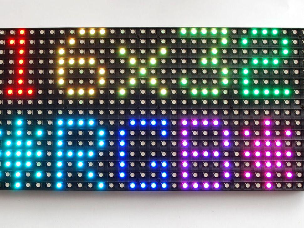 Medium 16x32 RGB LED matrix panel | Totally Lit | Led video