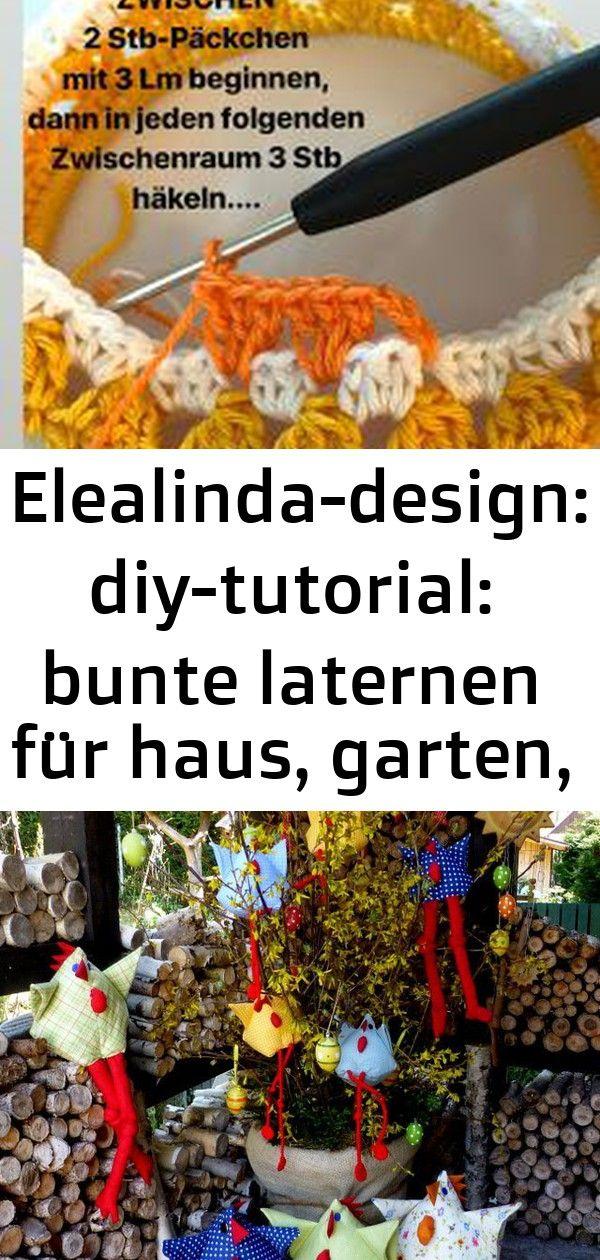 Elealinda Design Diy Tutorial Bunte Laternen Fur Haus Garten Terrasse Frohe Ostern Gehakeltes Schaf Bea Schaf Amigurumi Geschenkideen Wc Rollen Hut Oo Pa