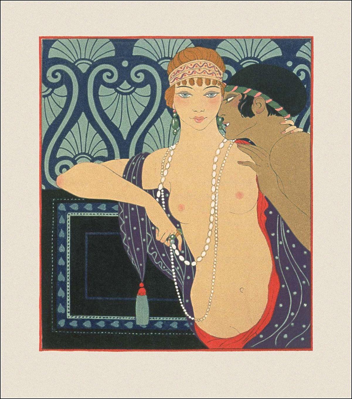 Les Chansons De Bilitis Ill George Barbier Art Deco Illustration Art Deco Paintings Art Deco Posters
