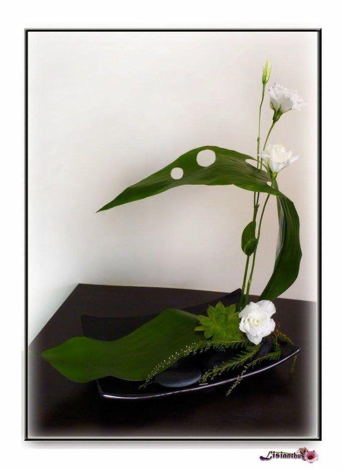 image lisianthus art floral bouquet cr ations florales de art floral. Black Bedroom Furniture Sets. Home Design Ideas