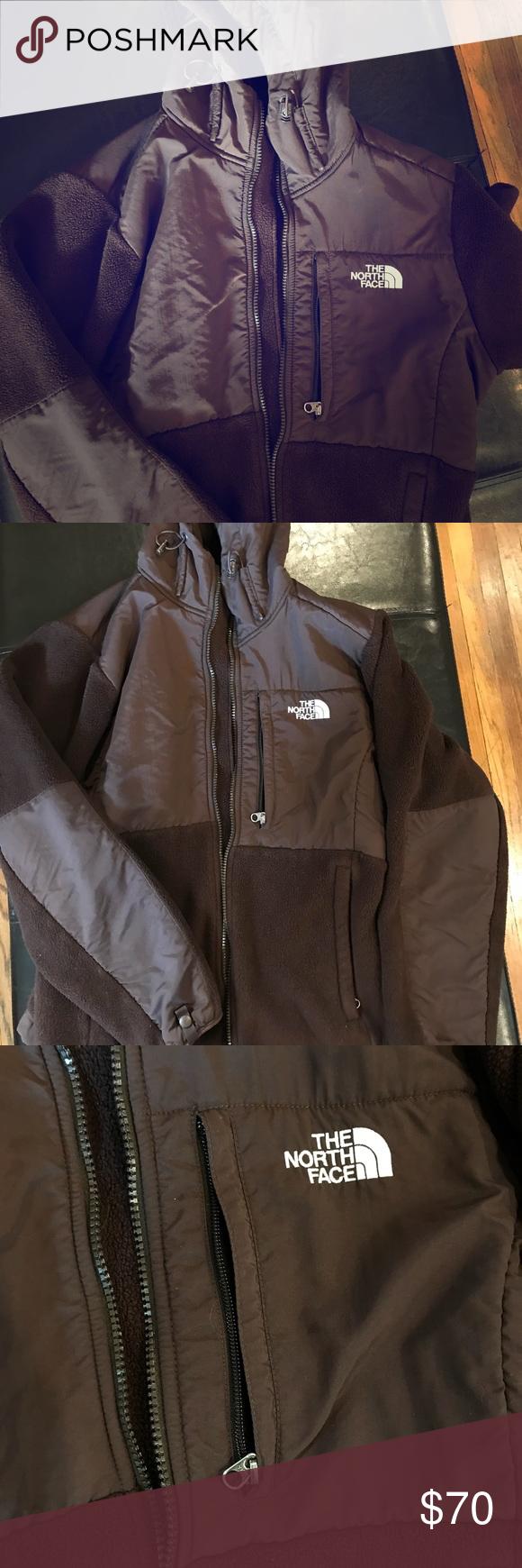North Face Brown Denali Jacket Hoodie North Face Fleece Jacket Brown North Face Jackets [ 1740 x 580 Pixel ]