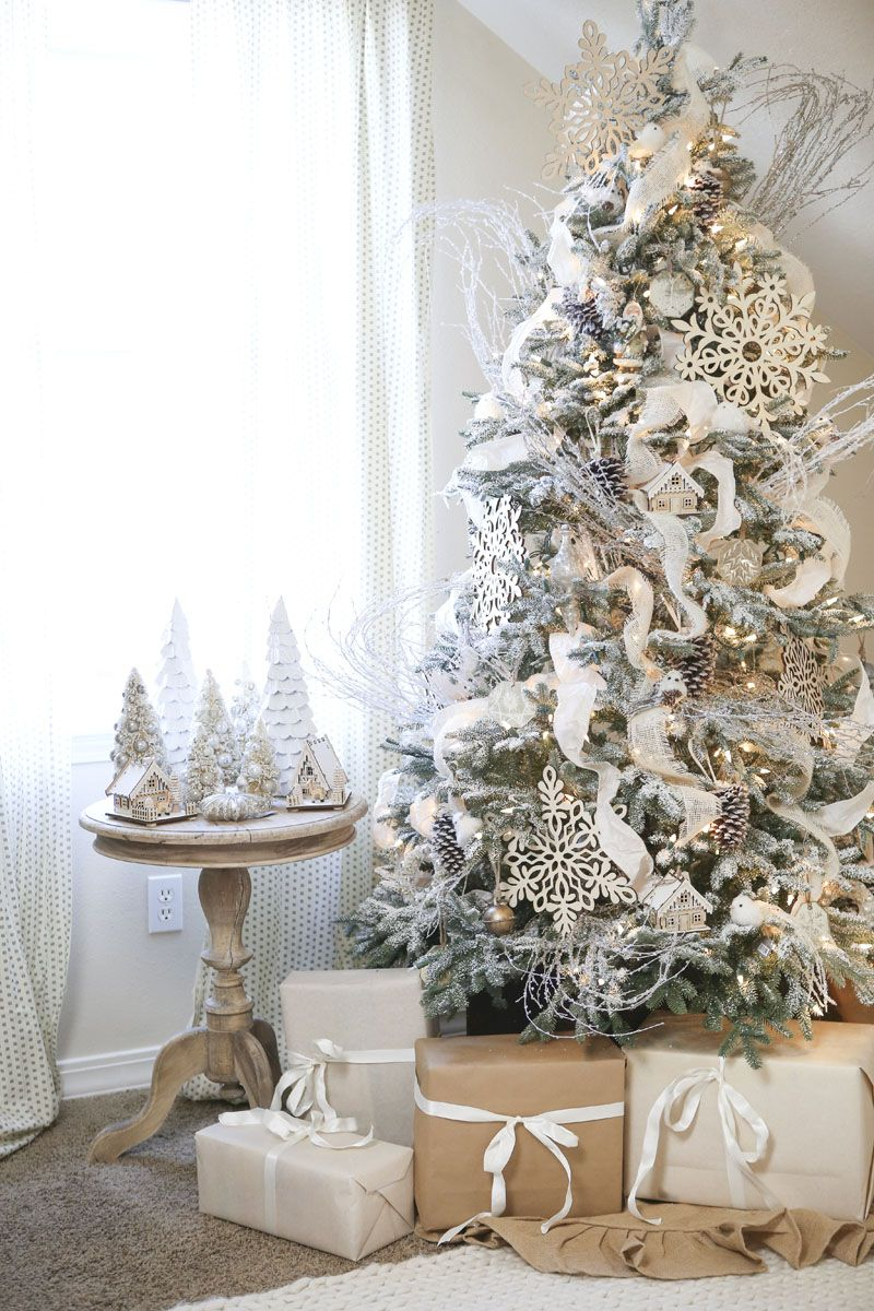 How To Choose And Buy An Artificial Flocked Christmas Tree In 2020 White Christmas Decor Christmas Tree Flocked Christmas Trees
