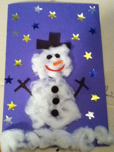 Ideas de tarjetas de navidad caseras muneco nieve ideas - Ideas postales navidad ...