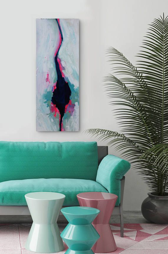 original abstract painting 12x30x2 5 living room decor on modern acrylic paintings for living room id=53535