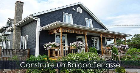 balcon et terrasse tapes de construction d 39 un balcon en bois voir. Black Bedroom Furniture Sets. Home Design Ideas