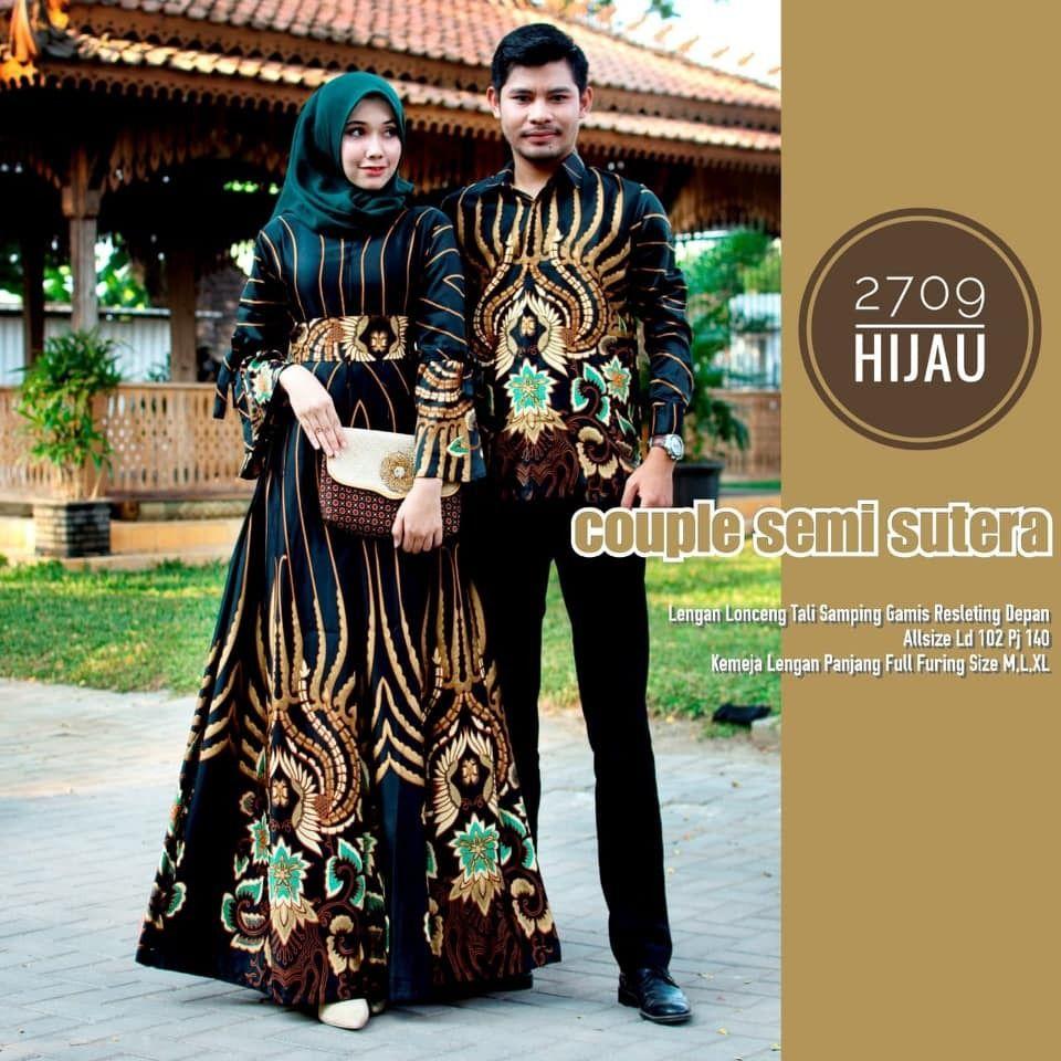Model Baju Batik Couple Gamis Semisutera 9  Batik Bagoes Solo