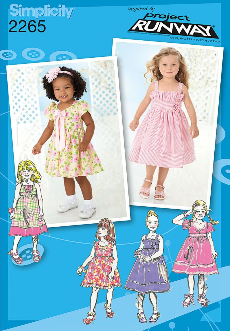 Simplicity 2265 toddlers childs dress project runway simplicity 2265 toddlers childs dress project runway collection sewing pattern jeuxipadfo Choice Image