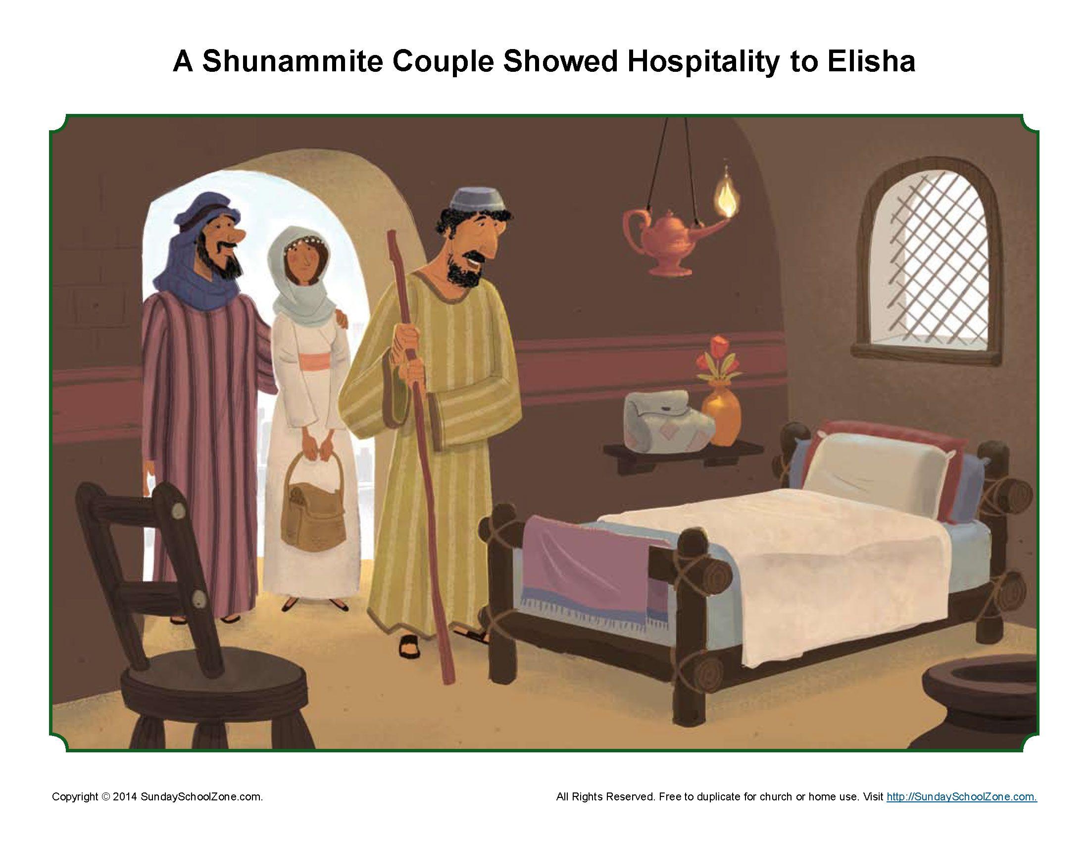 A Shunammite Couple Showed Hospitality To Elisha Story Illustration