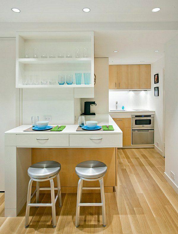 Kücheneinrichtung planen  kücheneinrichtung planen apartment klein holz bodenbelag | Lizardi ...