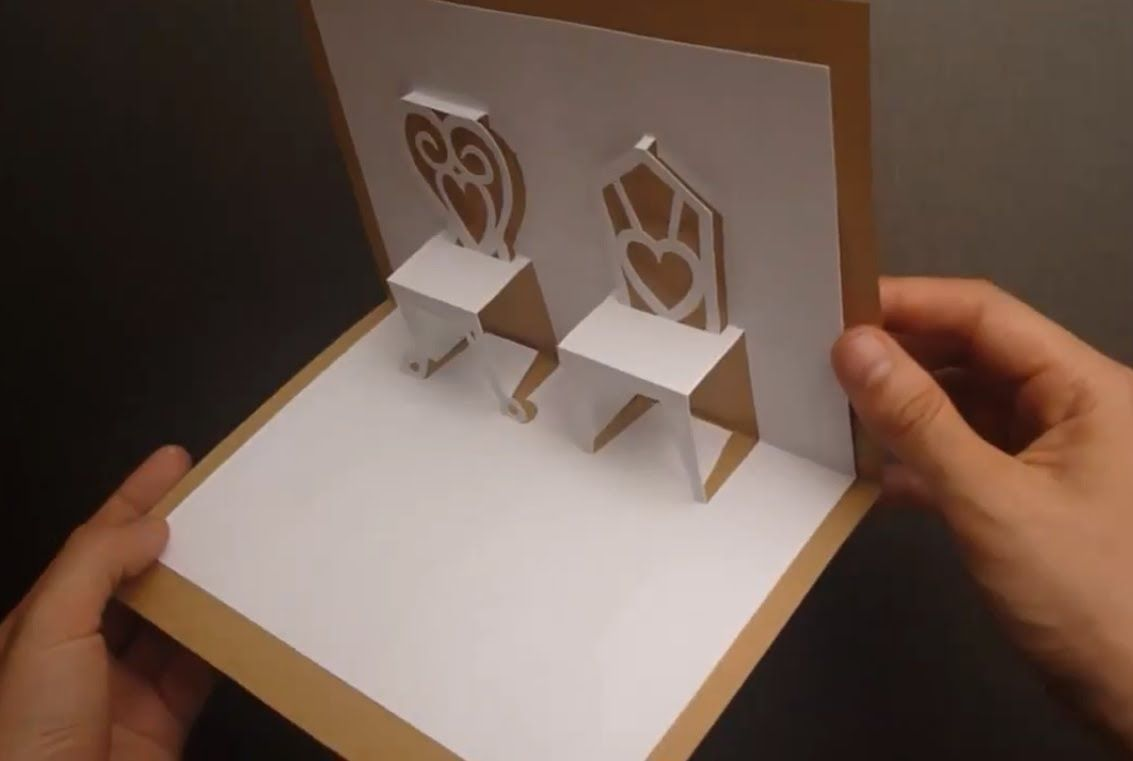 Chairs Pop Up Card Tutorial Origamic Architecture Pop Up Card Templates Pop Up Cards Card Tutorial