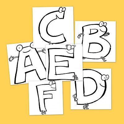 Recursos para el aula: Abecedario para colorear | LLENGUA Abecedari ...