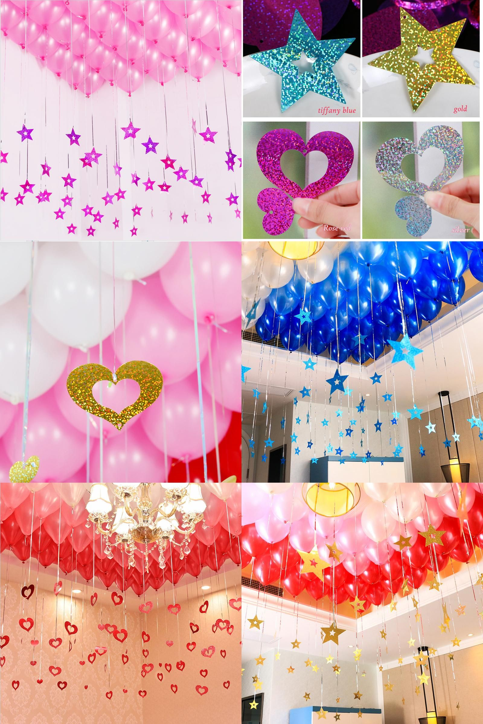 """18/"""" Large Star Foil Balloons Gold Silver Colourful baloons Wedding Birthday Deco"""