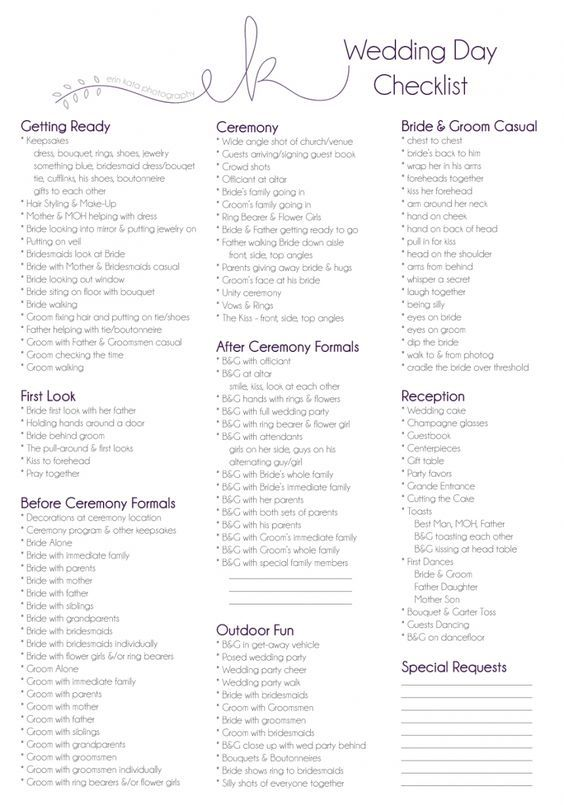 Wedding Planner Template Guide Checklist Decoration cakepins.com ...