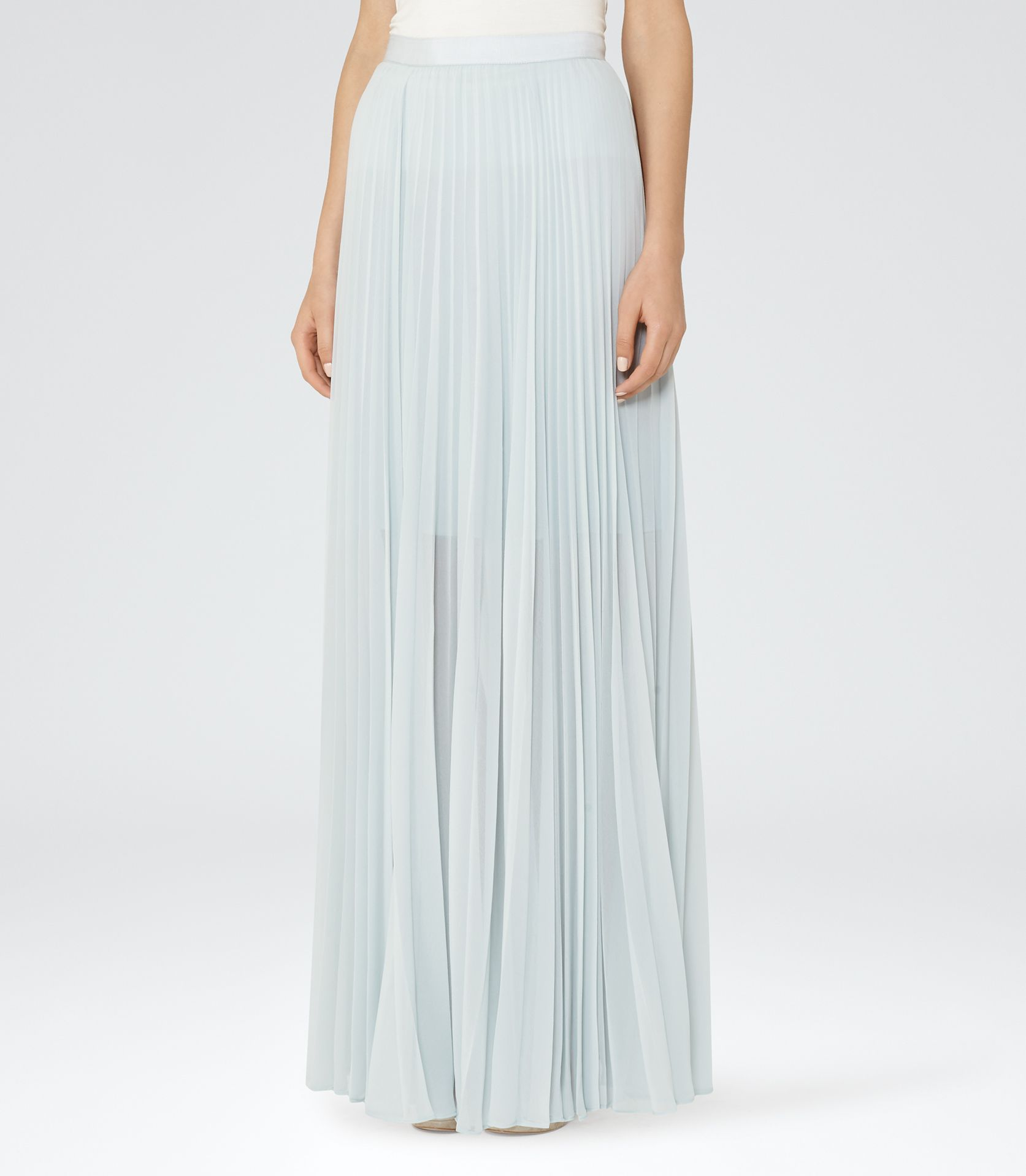 cf78ac18c Womens Grey Blue Pleated Maxi Skirt - Reiss Rafa | would love to have