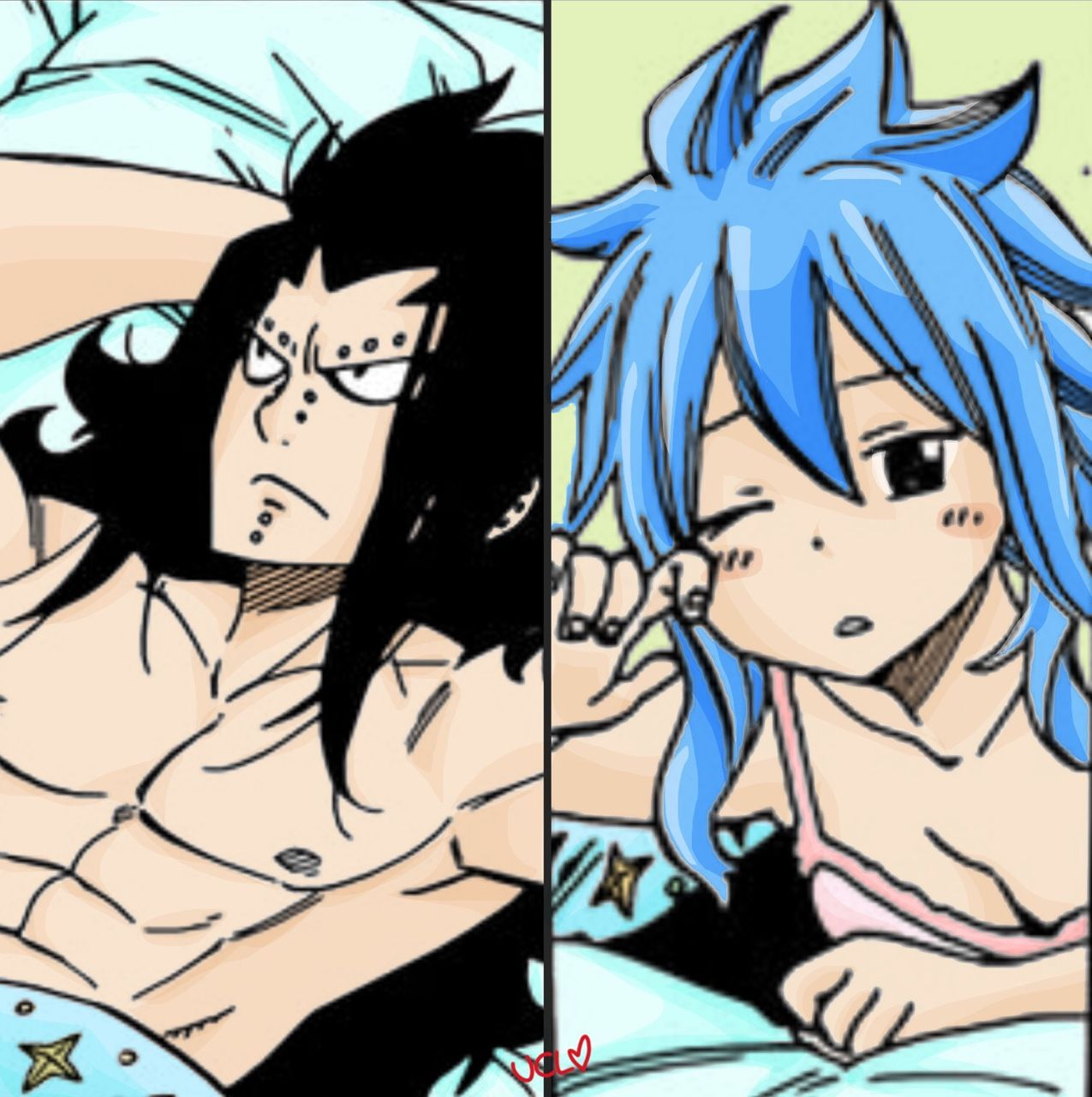 gajeel x levy | Tumblr