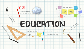 Prezi Template With An Education Concept Various School