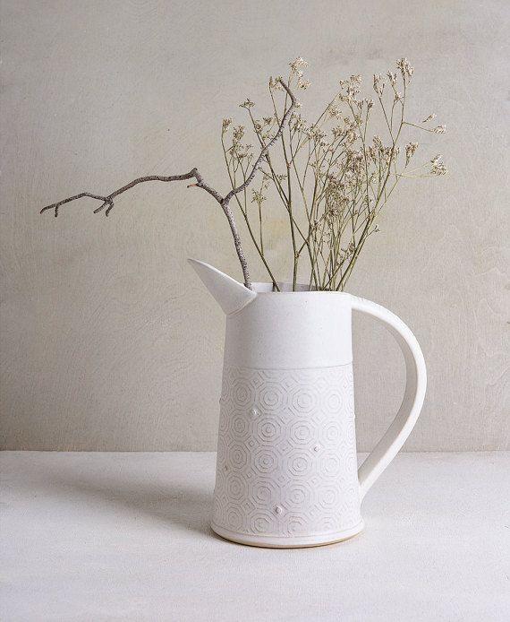 White Ceramic Vase Pottery Wedding Vase Pottery Wedding Gift