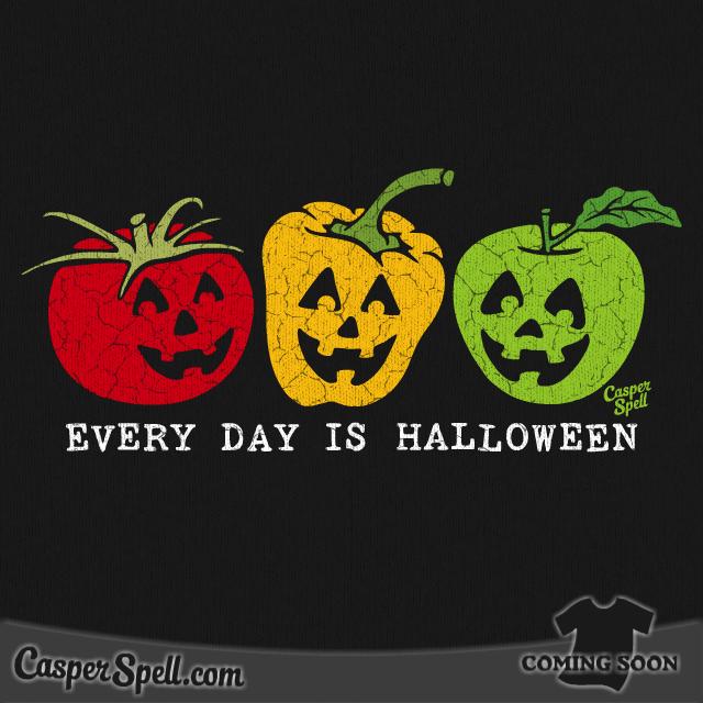 Every Day Is Halloween Art T-Shirt Apparel Casper Spell (www ...